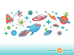 Space Wall Decals - Sunny Decals