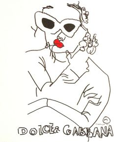 belle BRUT: Drawing again… #GirlsWhoWearGlasses.  An ode to #DolceGabbana  © belle BRUT 2014