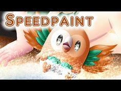 Pokemon Sun and Moon Starters - Speedpaint