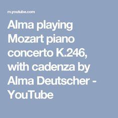 Alma playing Mozart piano concerto K.246, with cadenza by Alma Deutscher - YouTube