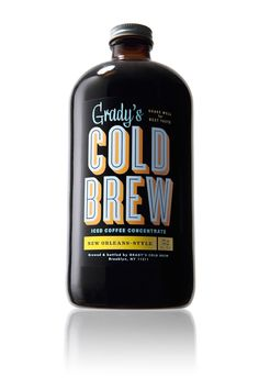 grady's cold brew coffee via the dieline. Good design AND I am now dying for some iced coffee. Damned effective.