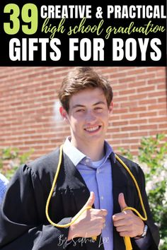 Graduation Gifts Discover 39 Best Graduation Gifts for Guys In 2020 These are the best college graduation gift ideas to give this year. Written by a 2020 graduate these are the grad gifts we actually will use and love. Boyfriend Graduation Gift, Graduation Gifts For Boys, Graduation Party Themes, College Guys, College Graduation Gifts, Grad Parties, Graduation Decorations, Graduation Ideas, Gifts For College Graduates