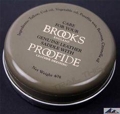 Brooks England Proofide Leather Bicycle Saddle / Seat Dressing Cream Tin - 40g B2002601 United Kingdom