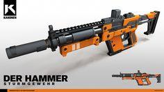 Der Hammer - Assault Rifle, Andre-Lang Huynh on ArtStation at https://www.artstation.com/artwork/Re5kO