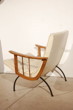 Milo Baughman; Scoop Armchair for Thayer Coggin, 1950s.