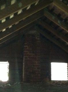 Chimney in attic