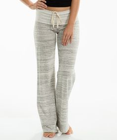 Look at this #zulilyfind! Heather Taupe Lounge Pants by Elan #zulilyfinds