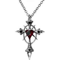 Visit the gothic shop for the Betrayal Cross necklace and more jewellery by Alchemy Gothic Chokers, Gothic Rings, Gothic 1, Goth Jewelry, Gothic Jewellery, Jewlery, Emo, Swarovski Sets, Goth Accessories