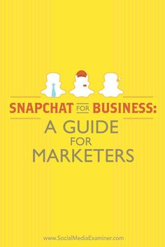 Have you heard of Snapchat?  Snapchat is a mobile app that lets you send public or private snaps of images and video to people from your smartphone.  In this article, youll discover how to use Snapchats features to connect with your customers. Via @smex
