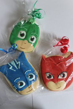 PJ masks cookies 12 cookies by Ladybugcakesdotcom on Etsy