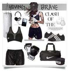 """""""Get fit box it out"""" by jemma-armitage on Polyvore featuring Seletti, NIKE, Leone 1947, Everlast, Elisabeth Weinstock, Y-3, Frends and Morgan"""