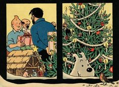 Batman, Superman, Illustration Noel, Illustrations, Tin Tin Cartoon, Lucky Luke, Ligne Claire, Christmas Nativity, Amazing Adventures
