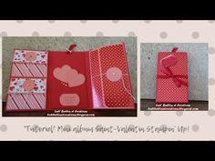 Ludi' Bulles & Créations: *Tutoriel* Mini album pour la Saint Valentin Stampin Up, Creations, Scrapbooking, Make It Yourself, Blog, Diy, Tuto Mini Albums, Bubbles, Paper Mache