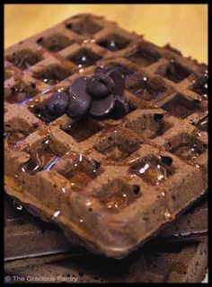 Clean Eating Brownie Waffles...make a bunch on the weekend and store in the freezer!