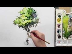 How to paint the tree by Um KyungHo - YouTube