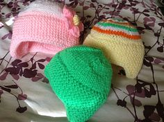 """I calculated the percentages to come up with a pattern for a 14"""" circumference baby hat. This pattern is such genius. Love it - cute, warm, easy to make, and it hugs the ears.  The 2 14&#8221..."""