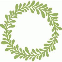 Silhouette Design Store - View Design #43792: leafy wreath