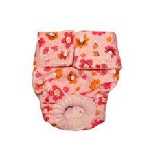 Spring Flower on Pink Washable Dog Diaper