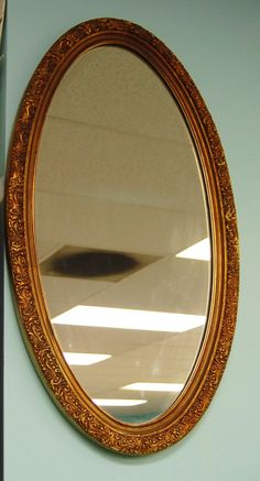 FREE SHIP Gold Gesso Mirror Long Vintage by LakenessRoad on Etsy