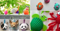 love the puppy! Craft Activities For Kids, Projects For Kids, Diy For Kids, Crafts For Kids, Sea Crafts, Seashell Crafts, Diy And Crafts, Diy Painting, Creative