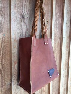 Leather Boho Tote Leather Bag Braided Leather by UrbanGuerrilla63