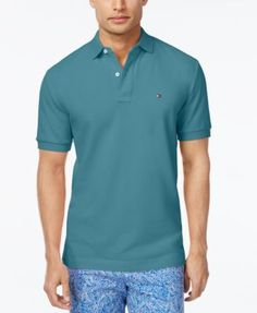 TOMMY HILFIGER Tommy Hilfiger Men'S Custom-Fit Ivy Polo. #tommyhilfiger #cloth # polos