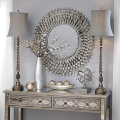 Buffet lamps have small bases and tall, thin bodies. They are perfect for small tables and add height to dwarfed furniture. The Silvis Gunmetal Buffet Lamp features an antique look and looks great with rich, metallic decor. Buy one now for only $27.97 while it's on Green Tag. Original price is $39.99.