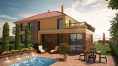 Balatonfüred - Új építésű családi házak – ikerházvillák - Kód: ALH160. - http://www.balatonhomes.com/ALH160/lakohaz-balatonfured-155nm-1050nm - Vételár: 86,8 millió Ft. (155m2) II. Típusú Villa - BalatonHomes Ingatlanközvetítés: http://balatonhomes.com/