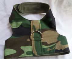Pet Harness Camouflage by ScotsPlace on Etsy, $18.00