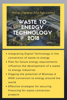 Waste to energy is a producing of energy process that converts waste material into energy like heat, electricity, and steam. Some latest technologies of. Waste to Energy Technology 2018 - Energy Technology, Digital Technology, Waste To Energy, Future Energy, Energy Industry, Reuse, Around The Worlds, Community, How To Plan