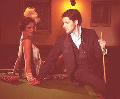 Katie McGrath and Colin Morgan in the Lady photoshoot