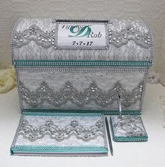 Card box for weddings, treasure chest money box, wedding card box ...