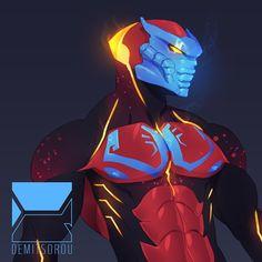 ArtStation - Tahu Xa, Demitsorou V Comic Character, Character Concept, Concept Art, Character Design, Bionicle Heroes, Lego Bionicle, Fantasy Races, Fantasy Warrior, Warframe Characters