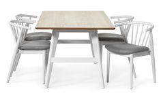 Edvin matbord och Sixten stolar från Mio.