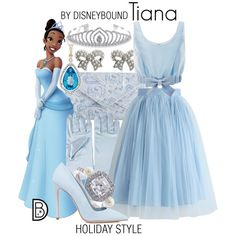 Tiana by leslieakay on Polyvore featuring Honor, Chicwish, Dee Keller, Michael Kors, M&Co, Bling Jewelry, Christmas, disney, disneybound and disneycharacter
