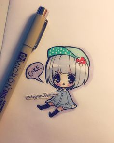 Insomnia + tiredness + craving for cake (◎ー◎) I do these little simple drawings on scrap paper sometimes when i'm bored but i never really post them. I guess I'll try to sleep now its 6am QWQ goodnight everyone sleep tight I hope you're dreaming of something nice like mochi icecream~ (unless its daytime where you are...then please enjoy the rest of your day •w•) <3