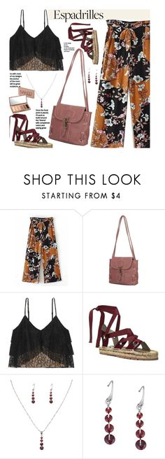 """Step into Summer: Espadrilles"" by beebeely-look ❤ liked on Polyvore featuring Alice + Olivia, Donald J Pliner, Urban Decay, casual, floralprint, espadrilles, laceup and twinkledeals"