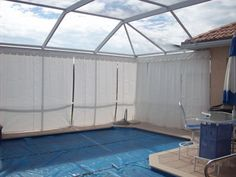 Pool Privacy Screen lanai curtains | custom outdoor privacy curtains for your pool