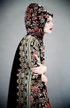 Valentino tapestry cape