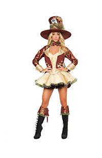 Women's Sexy Deluxe Tea Party Hatter Costume