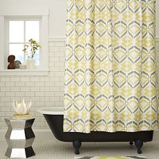 West Elm Shower Curtain for the guest bathroom