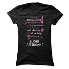 Awesome Flight Attendant T Shirts, Hoodies. Check price ==► https://www.sunfrog.com/Funny/Awesome-Flight-Attendant-Shirt.html?41382 $22