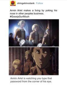 Armin the gossip girl