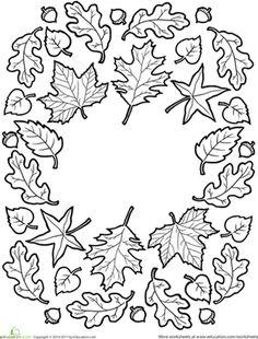 Mandala autumn leaves - Mandala hecho con hojas del otoño