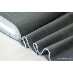 Très beau coton fil à filleger pour confection chemise coloris gris100% coton, 150cm, 115gr/m²