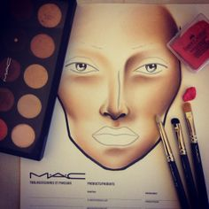 Facechart in progress. Follow me on instagram: http://instagram.com/pinkcolours_makeup