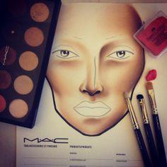 Facechart in progress. Follow me on instagram: http://instagram.com/pinkcolours_makeup