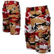 San Francisco 49ers Tailgate Camo Shorts - Scarlet/Gold