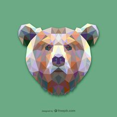 Your design job doesn't have to be a BEAR. Download these geometric animal vectors