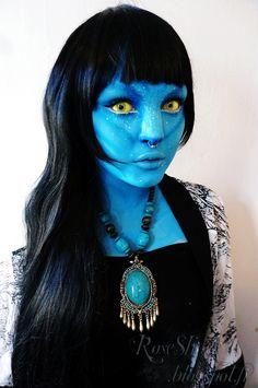 Na'vi Avatar Halloween Makeup